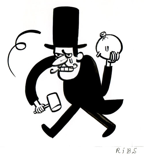 """Snidely Whiplash Fan Club"" is copyright ©2008 by Steven Weissman.  All rights reserved.  Reproduction prohibited."