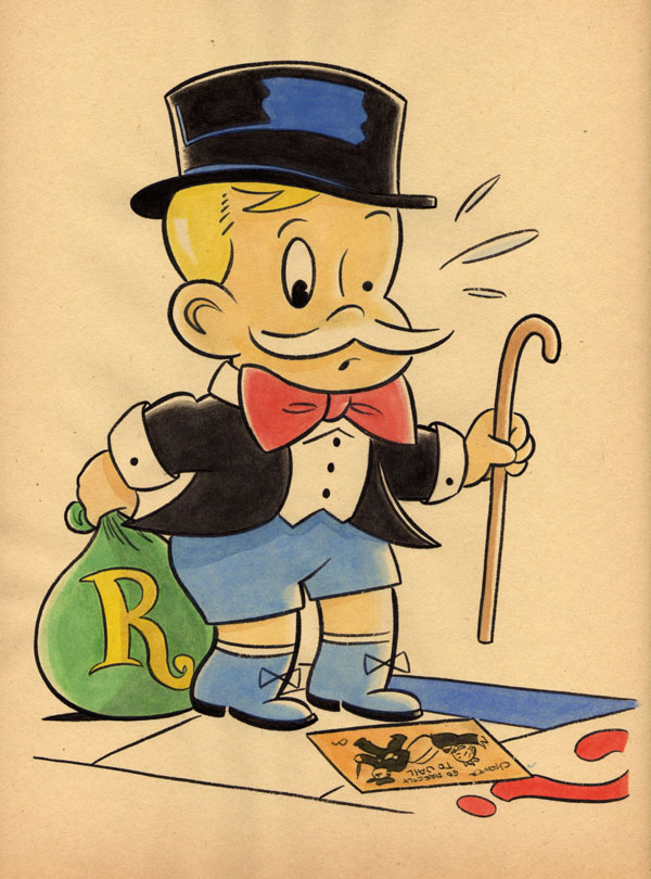 """CARTOON JUMBLE! RICHIE RICH & MONOPOLY BARON"" is copyright ©2008 by Jeremy Eaton.  All rights reserved.  Reproduction prohibited."