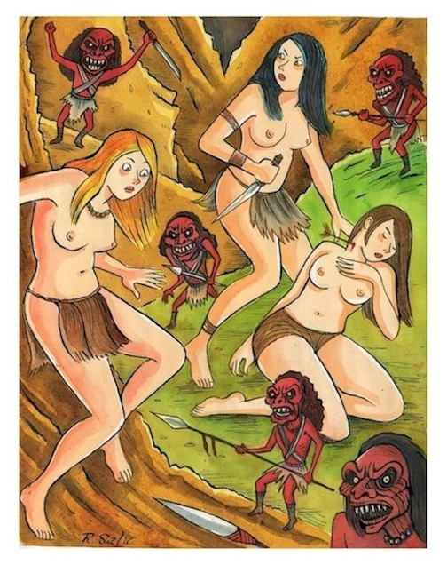 """Cave Girls of the Lost World - The Doll People"" is copyright ©2008 by Richard Sala.  All rights reserved.  Reproduction prohibited."