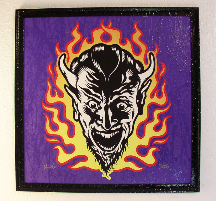 """FLAME DEVIL PAINTING"" is copyright ©2008 by Jim Blanchard.  All rights reserved.  Reproduction prohibited."