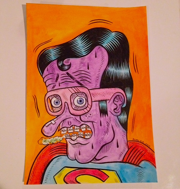 """SUPER-NERD"" is copyright ©2008 by Kevin Scalzo.  All rights reserved.  Reproduction prohibited."