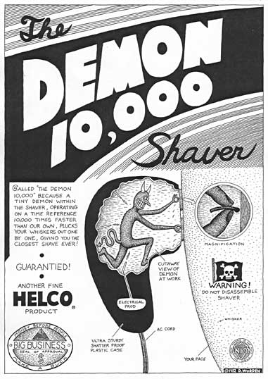 """Demon Shaver  page from SLUR"" is copyright ©2008 by Dennis Worden.  All rights reserved.  Reproduction prohibited."