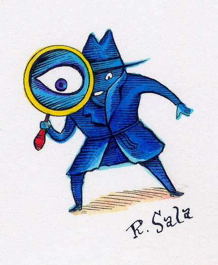 """Spy!"" is copyright ©2008 by Richard Sala.  All rights reserved.  Reproduction prohibited."