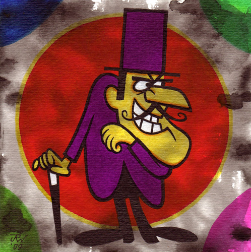 """Snidely Whiplash"" is copyright ©2008 by J.R. Williams.  All rights reserved.  Reproduction prohibited."