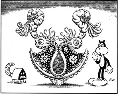 """A Fine Unnatural Imbalance"" is copyright ©2008 by Jim Woodring.  All rights reserved.  Reproduction prohibited."
