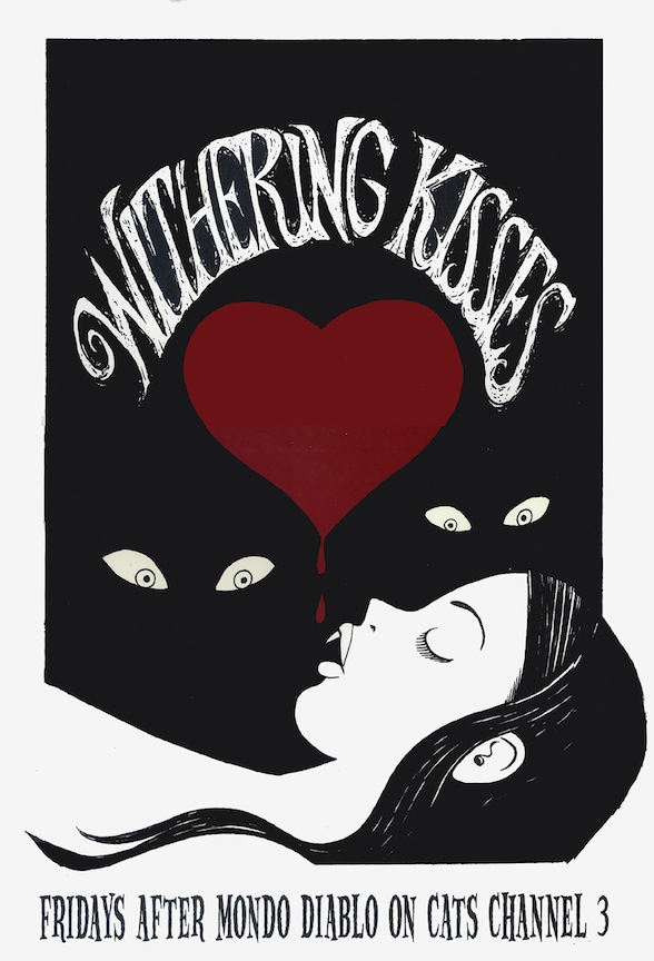 """Withering Kisses - Vampire Poster"" is copyright ©2008 by Richard Sala.  All rights reserved.  Reproduction prohibited."