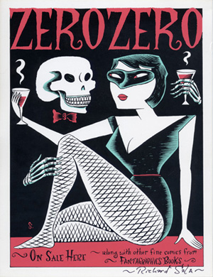 """SALE Zero Zero signed silkscreen"" is copyright ©2008 by Richard Sala.  All rights reserved.  Reproduction prohibited."