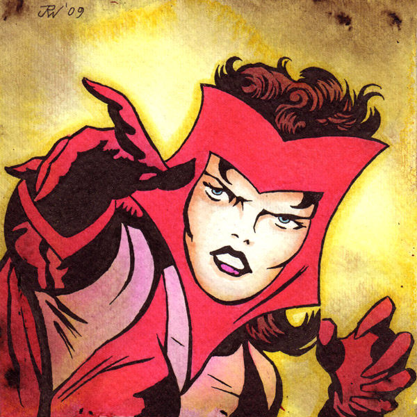 """The Scarlet Witch"" is copyright ©2008 by J.R. Williams.  All rights reserved.  Reproduction prohibited."
