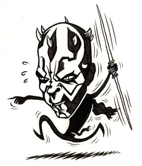 """Darth Maul"" is copyright ©2008 by Eric Reynolds.  All rights reserved.  Reproduction prohibited."