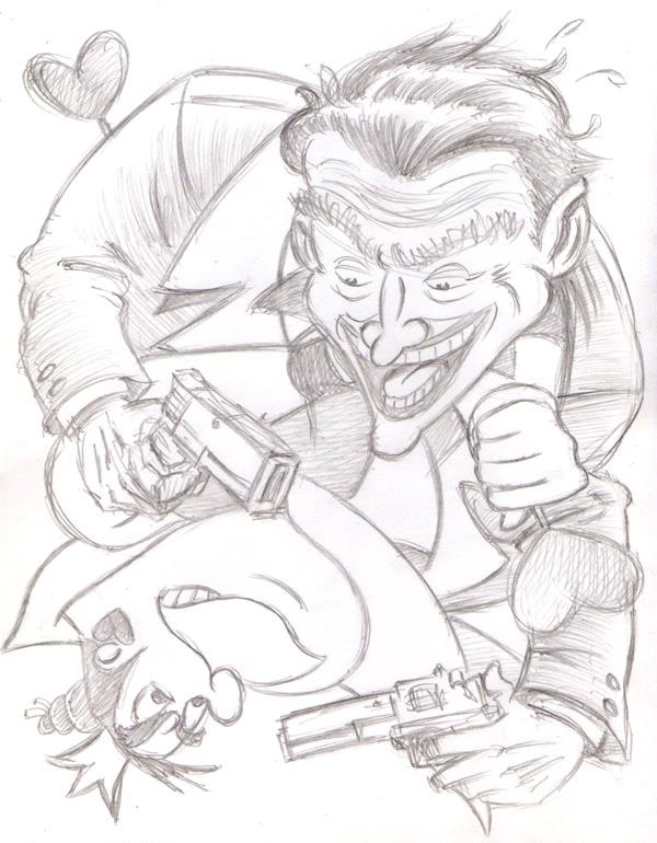 """CARTOON JUMBLE PENCIL - THE JOKER & QUEEN OF H"" is copyright ©2008 by Jeremy Eaton.  All rights reserved.  Reproduction prohibited."