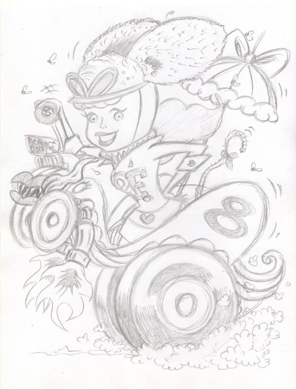 """CARTOON JUMBLE PENCIL - RATFINK & PENELOPE PITSTOP"" is copyright ©2008 by Jeremy Eaton.  All rights reserved.  Reproduction prohibited."