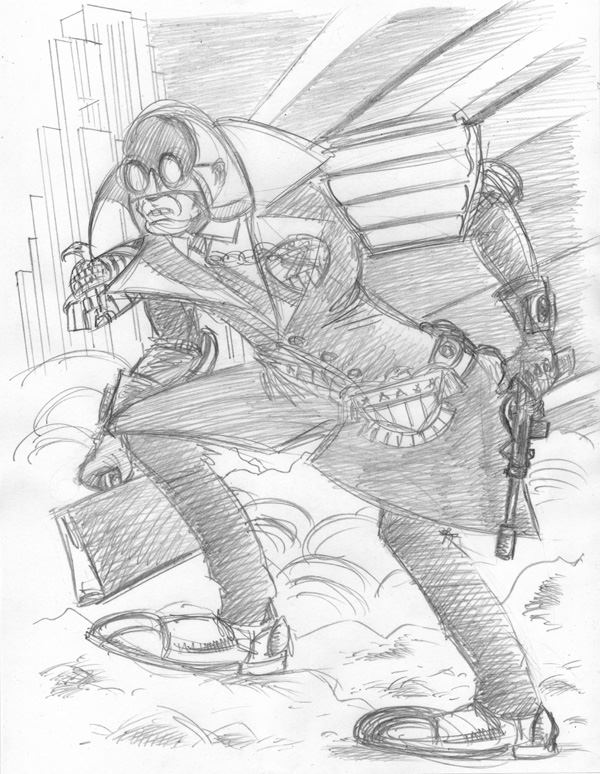 """CARTOON JUMBLE PENCIL - JUDGE DREDD & MISTER X"" is copyright ©2008 by Jeremy Eaton.  All rights reserved.  Reproduction prohibited."