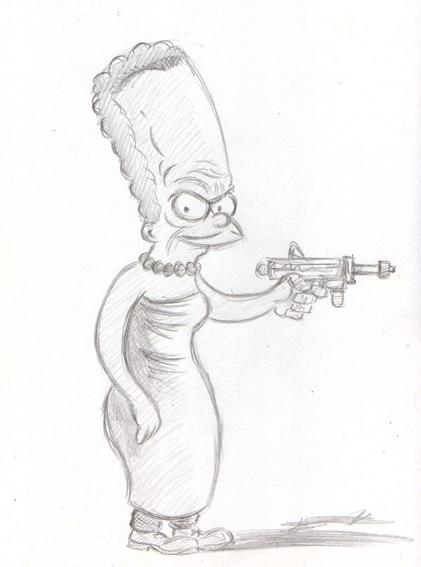 """CARTOON JUMBLE PENCIL - MARGE SIMPSON & THE LE"" is copyright ©2008 by Jeremy Eaton.  All rights reserved.  Reproduction prohibited."