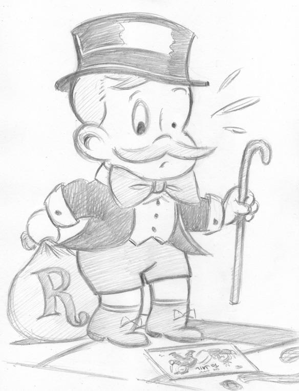 """CARTOON JUMBLE PENCIL - RICHIE RICH & MONOPOLY"" is copyright ©2008 by Jeremy Eaton.  All rights reserved.  Reproduction prohibited."
