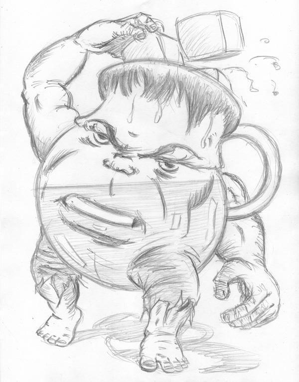 """CARTOON JUMBLE PENCIL - HULK & KOOL AID MAN"" is copyright ©2008 by Jeremy Eaton.  All rights reserved.  Reproduction prohibited."