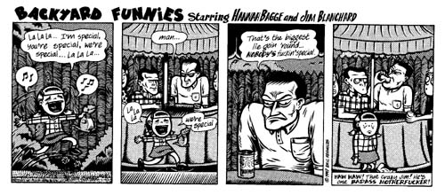 """Backyard Funnies w/Jim Blanchard & Hannah Bagge"" is copyright ©2008 by Eric Reynolds.  All rights reserved.  Reproduction prohibited."