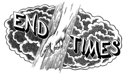 """End Times logo (TCJ)"" is copyright ©2008 by Eric Reynolds.  All rights reserved.  Reproduction prohibited."