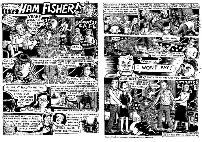 """Ham Fisher (two pages)"" is copyright ©2008 by Kim Deitch.  All rights reserved.  Reproduction prohibited."