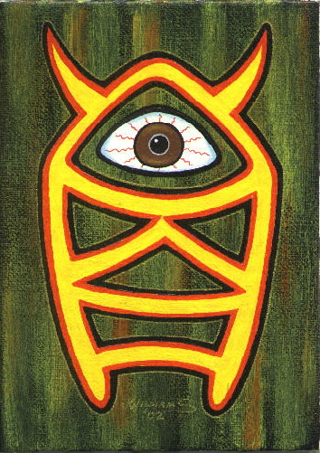 """El Ojo (painting)"" is copyright ©2008 by J.R. Williams.  All rights reserved.  Reproduction prohibited."