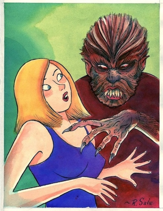 """WEREWOLF"" is copyright ©2008 by Richard Sala.  All rights reserved.  Reproduction prohibited."