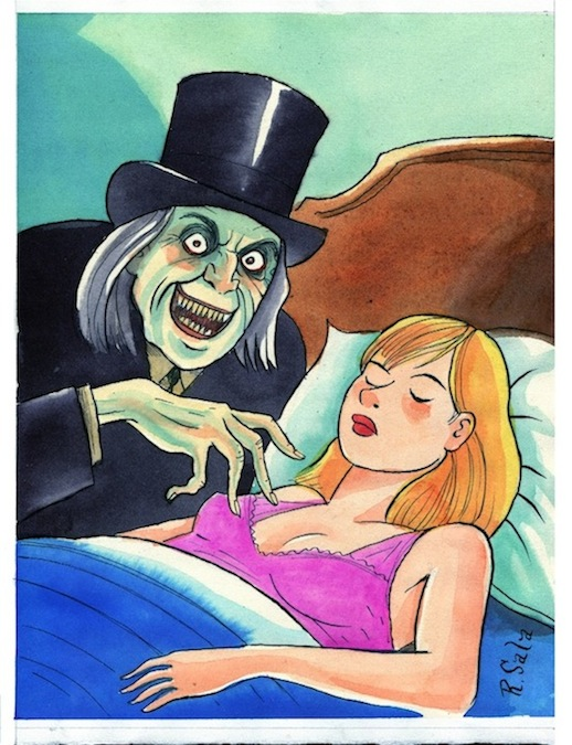 """LONDON AFTER MIDNIGHT"" is copyright ©2008 by Richard Sala.  All rights reserved.  Reproduction prohibited."