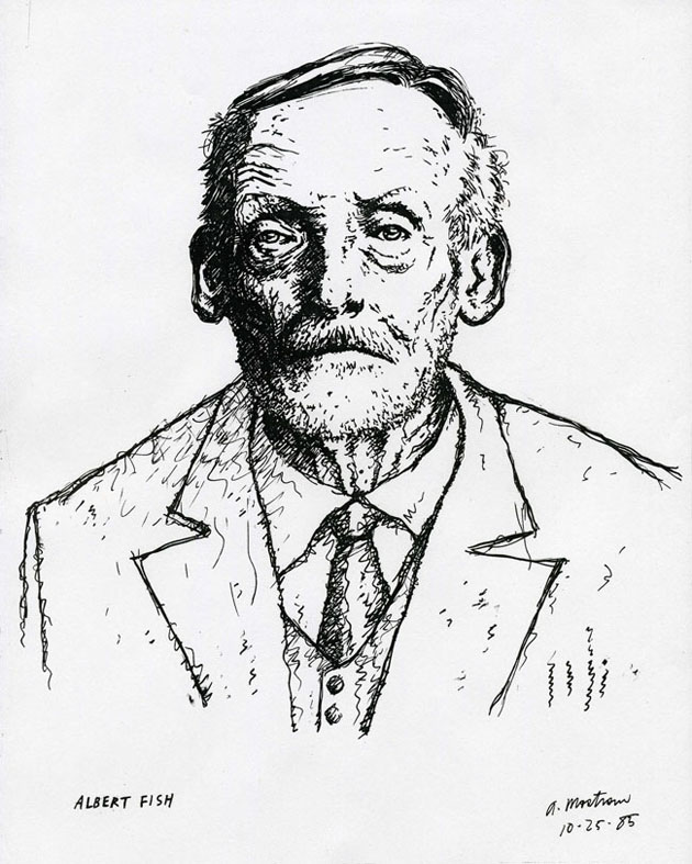 """ALBERT FISH PORTRAIT"" is copyright ©2008 by Tony Mostrom.  All rights reserved.  Reproduction prohibited."