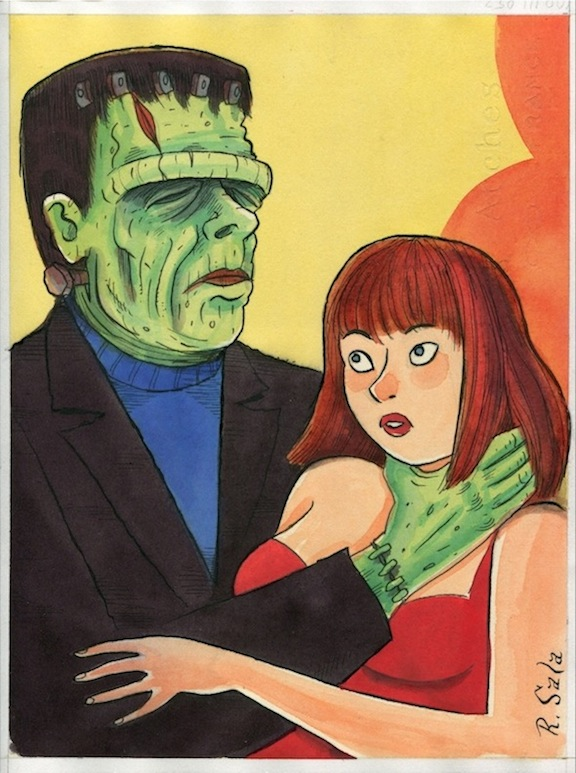 """FRANKENSTEIN'S MONSTER"" is copyright ©2008 by Richard Sala.  All rights reserved.  Reproduction prohibited."