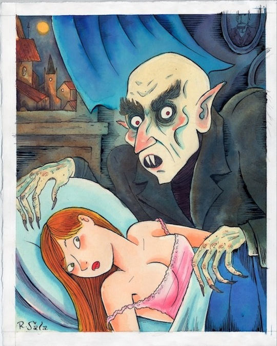 """Monsters and Maidens: NOSFERATU"" is copyright ©2008 by Richard Sala.  All rights reserved.  Reproduction prohibited."