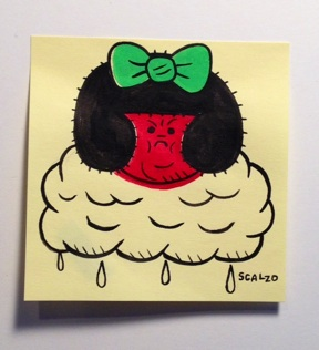 """POST-IT #3"" is copyright ©2008 by Kevin Scalzo.  All rights reserved.  Reproduction prohibited."
