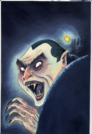 """Dracula - Cover art"" is copyright ©2008 by Richard Sala.  All rights reserved.  Reproduction prohibited."