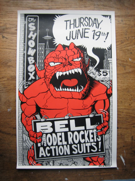"""Action Suits/Bell/Model Rockets 1996 Poster"" is copyright ©2008 by Eric Reynolds.  All rights reserved.  Reproduction prohibited."