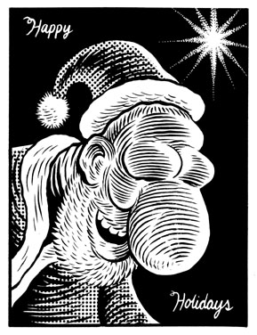 """Santy Claus"" is copyright ©2008 by Eric Reynolds.  All rights reserved.  Reproduction prohibited."
