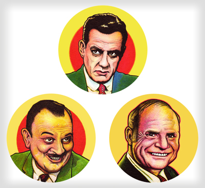 """TV Stars buttons"" is copyright ©2008 by J.R. Williams.  All rights reserved.  Reproduction prohibited."