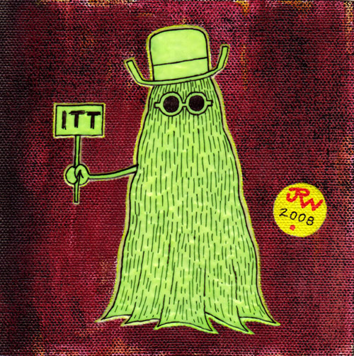 """Glow-in-the-dark Cousin Itt"" is copyright ©2008 by J.R. Williams.  All rights reserved.  Reproduction prohibited."