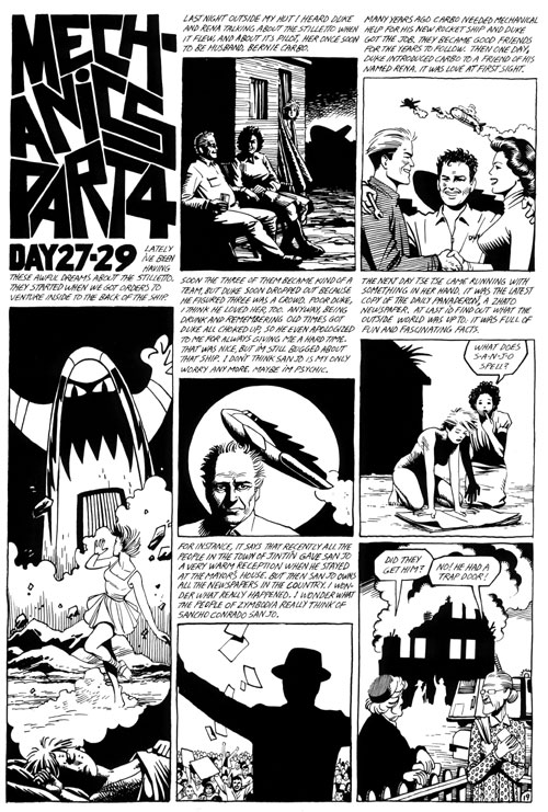 """Love and Rockets issue 2 p.21"" is copyright ©2008 by Jaime Hernandez.  All rights reserved.  Reproduction prohibited."