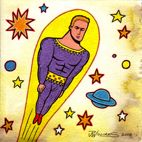 """Stardust, the Super Wizard!"" is copyright ©2008 by J.R. Williams.  All rights reserved.  Reproduction prohibited."