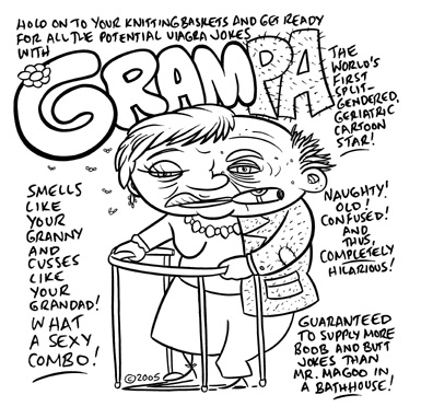 """CARTOON CHARACTER OUTLET - GRAMPA"" is copyright ©2008 by Jeremy Eaton.  All rights reserved.  Reproduction prohibited."