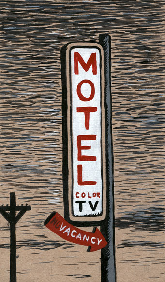 """Motel, color TV"" is copyright ©2008 by  Mats!?.  All rights reserved.  Reproduction prohibited."