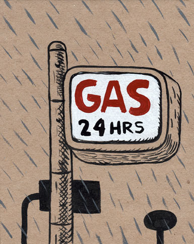 """Gas 24hrs"" is copyright ©2008 by  Mats!?.  All rights reserved.  Reproduction prohibited."