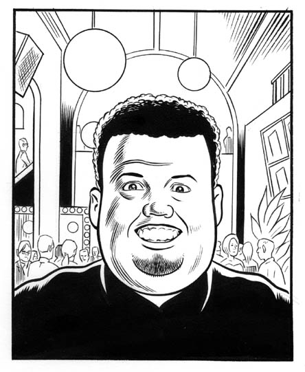 """Fast Company:  Portrait of Golfar"" is copyright ©2008 by Daniel Clowes.  All rights reserved.  Reproduction prohibited."