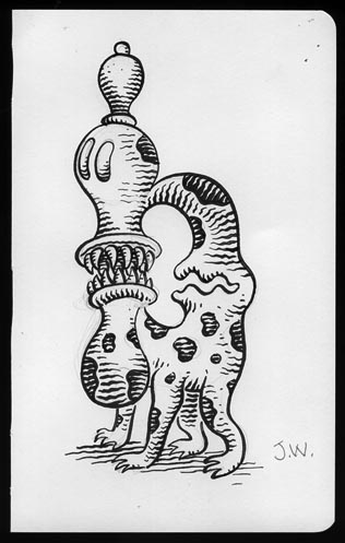 """SKETCHBOOK PAGE"" is copyright ©2008 by Jim Woodring.  All rights reserved.  Reproduction prohibited."