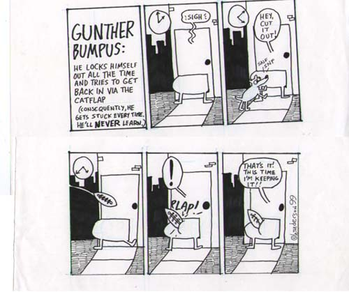 """Gunther Bumpus: Football"" is copyright ©2008 by Sam Henderson.  All rights reserved.  Reproduction prohibited."