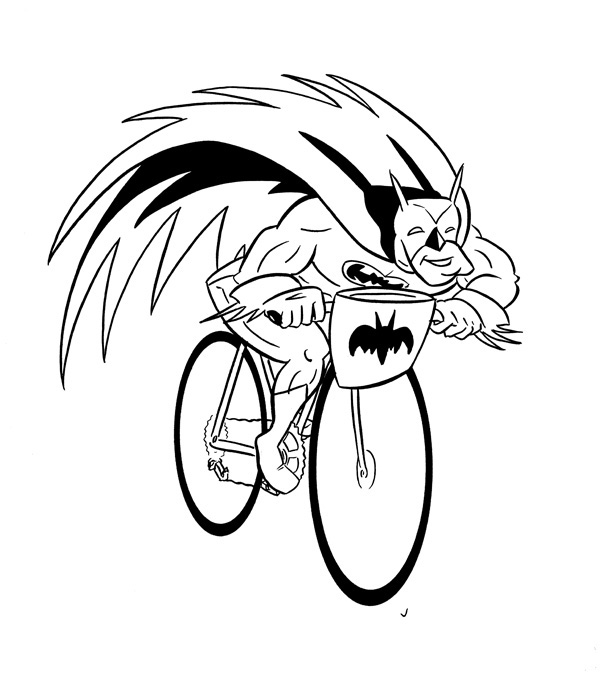 """CARTOON BIKER! BATMAN!"" is copyright ©2008 by Jeremy Eaton.  All rights reserved.  Reproduction prohibited."