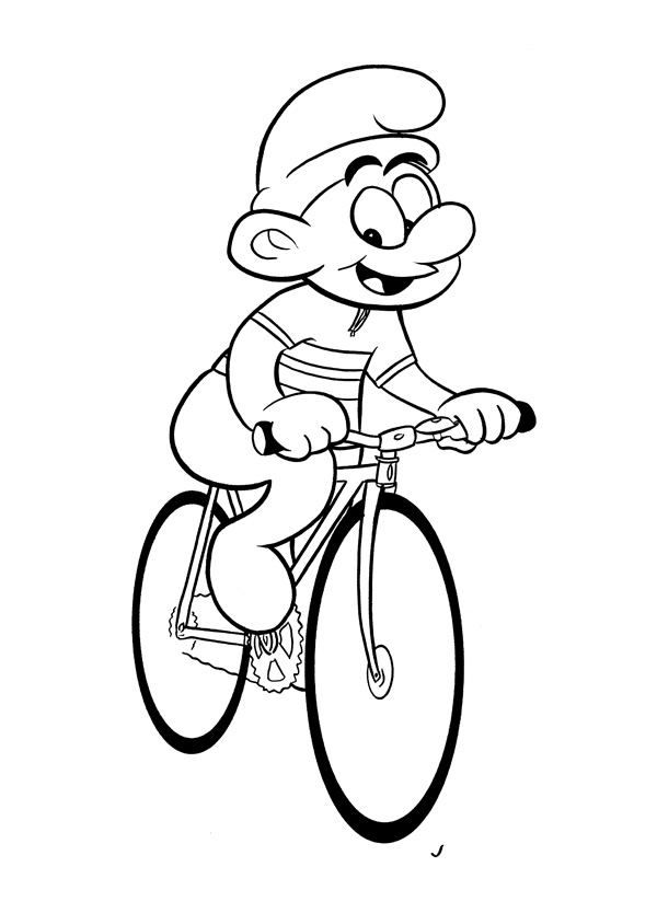 """CARTOON BIKER! SMURF!"" is copyright ©2008 by Jeremy Eaton.  All rights reserved.  Reproduction prohibited."