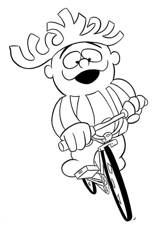 """CARTOON BIKER! PUNCHY!"" is copyright ©2008 by Jeremy Eaton.  All rights reserved.  Reproduction prohibited."