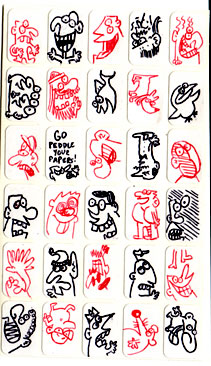 """stickers"" is copyright ©2008 by Sam Henderson.  All rights reserved.  Reproduction prohibited."