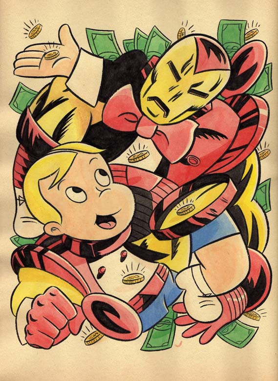 """*CARTOON JUMBLES - RICHIE RICH & IRON MAN"" is copyright ©2008 by Jeremy Eaton.  All rights reserved.  Reproduction prohibited."