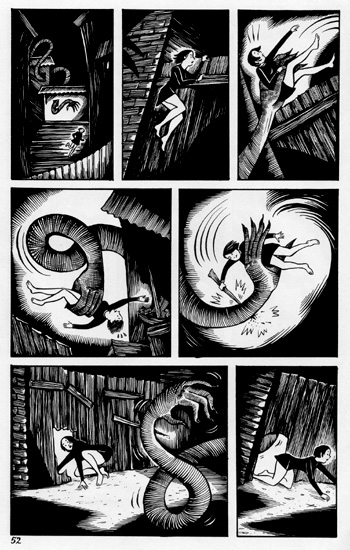 """PECULIA page 52"" is copyright ©2008 by Richard Sala.  All rights reserved.  Reproduction prohibited."