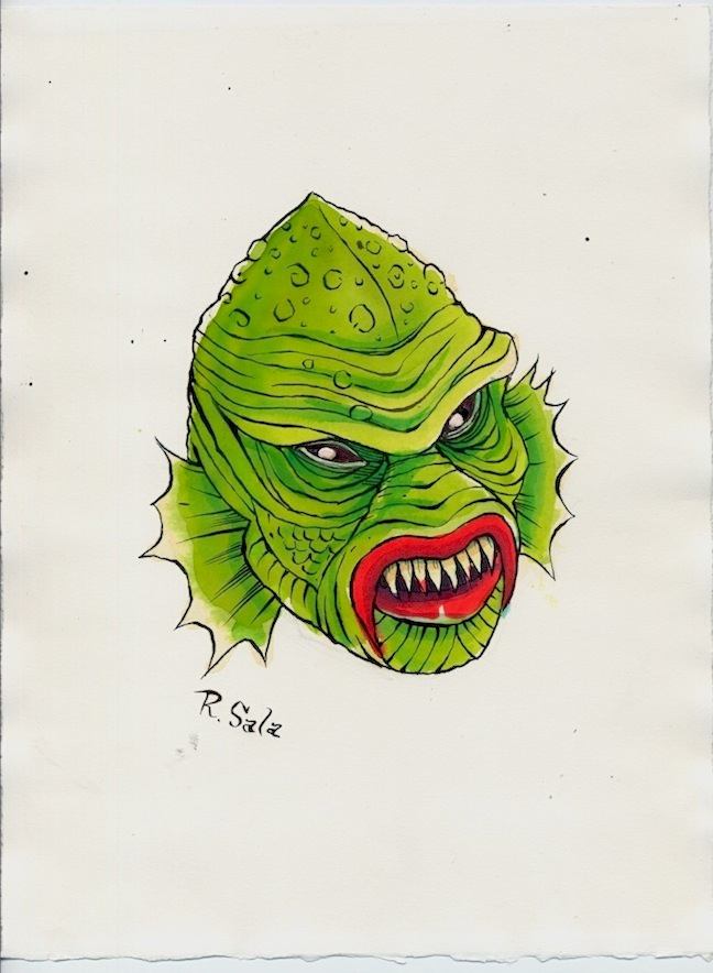"""Unmasked Series: Revenge of the Creature"" is copyright ©2008 by Richard Sala.  All rights reserved.  Reproduction prohibited."