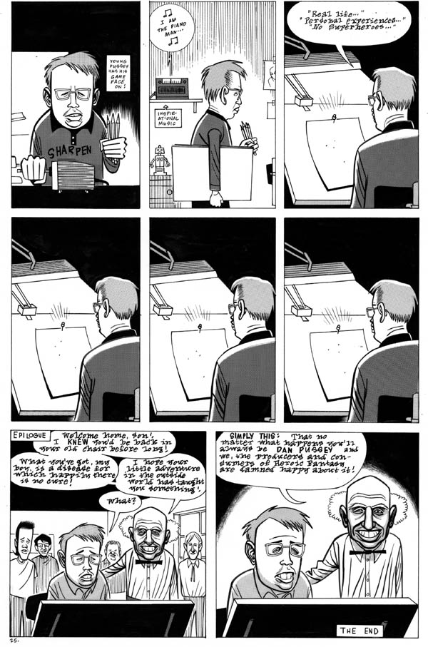 """Eightball issue 3, page 25 (Dan Pussey)"" is copyright ©2008 by Daniel Clowes.  All rights reserved.  Reproduction prohibited."